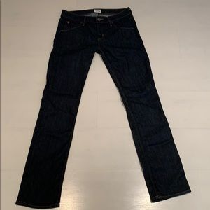 Hudson Women's Straight Leg Dark Wash Jeans